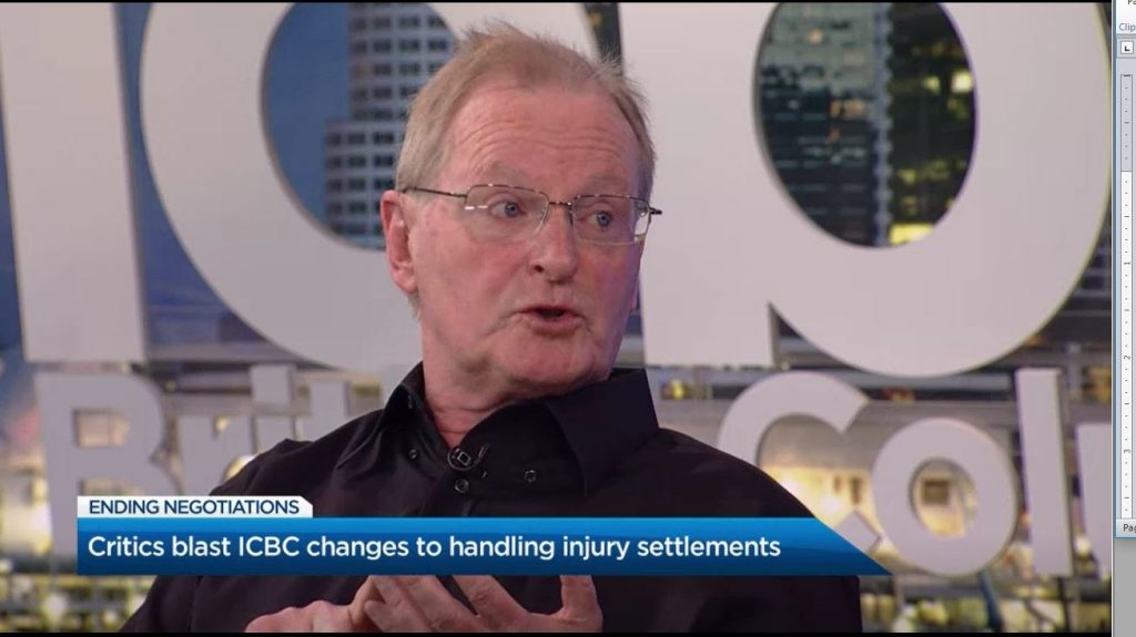 """Hear from senior lawyer Joe Murphy on Global TV explaining why ICBC's new """"meat chart"""", low-ball settlement offer strategy will backfire, causing more delay and soaring legal costs"""